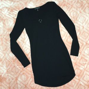 Derek Heart Black Long Sleeve Bodycon Dress sz S